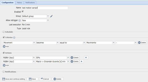 Configura EEDOMUS+
