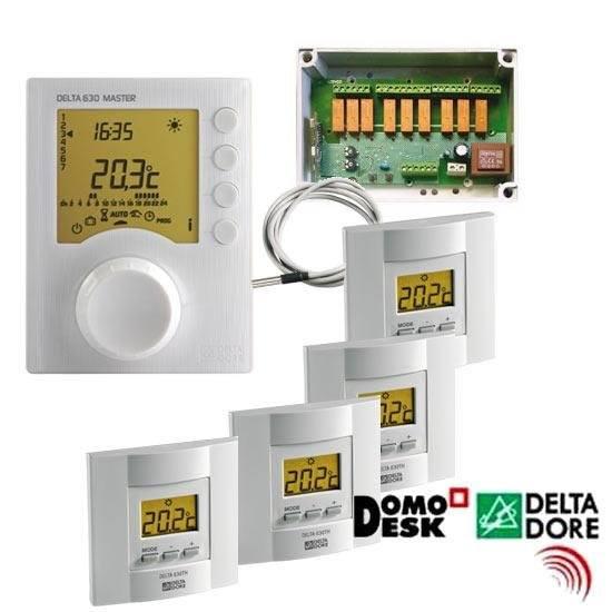 Pack delta 630 climatizaci n calefacci n 6 zonas delta dore suelo radiante hilo radiante aire - Calefaccion por hilo radiante ...