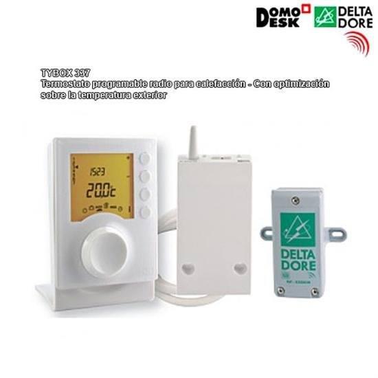 Tybox 337 termostato programable radio para calefacci n con optimizaci n sobre la temperatura - Temperatura ideal calefaccion casa ...