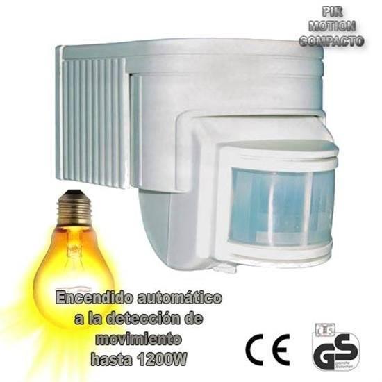 Detector movimiento compacto encendido de luces control - Detector de movimiento para luces ...