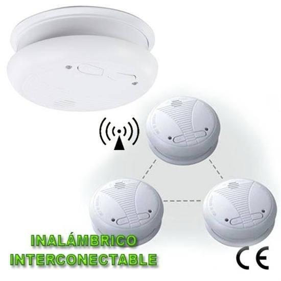 Detector de humo inal mbrico e interconectable - Detectores de humos ...