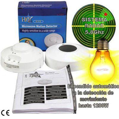 Radar detector de movimiento encendido luces control - Detector de movimiento para luces ...